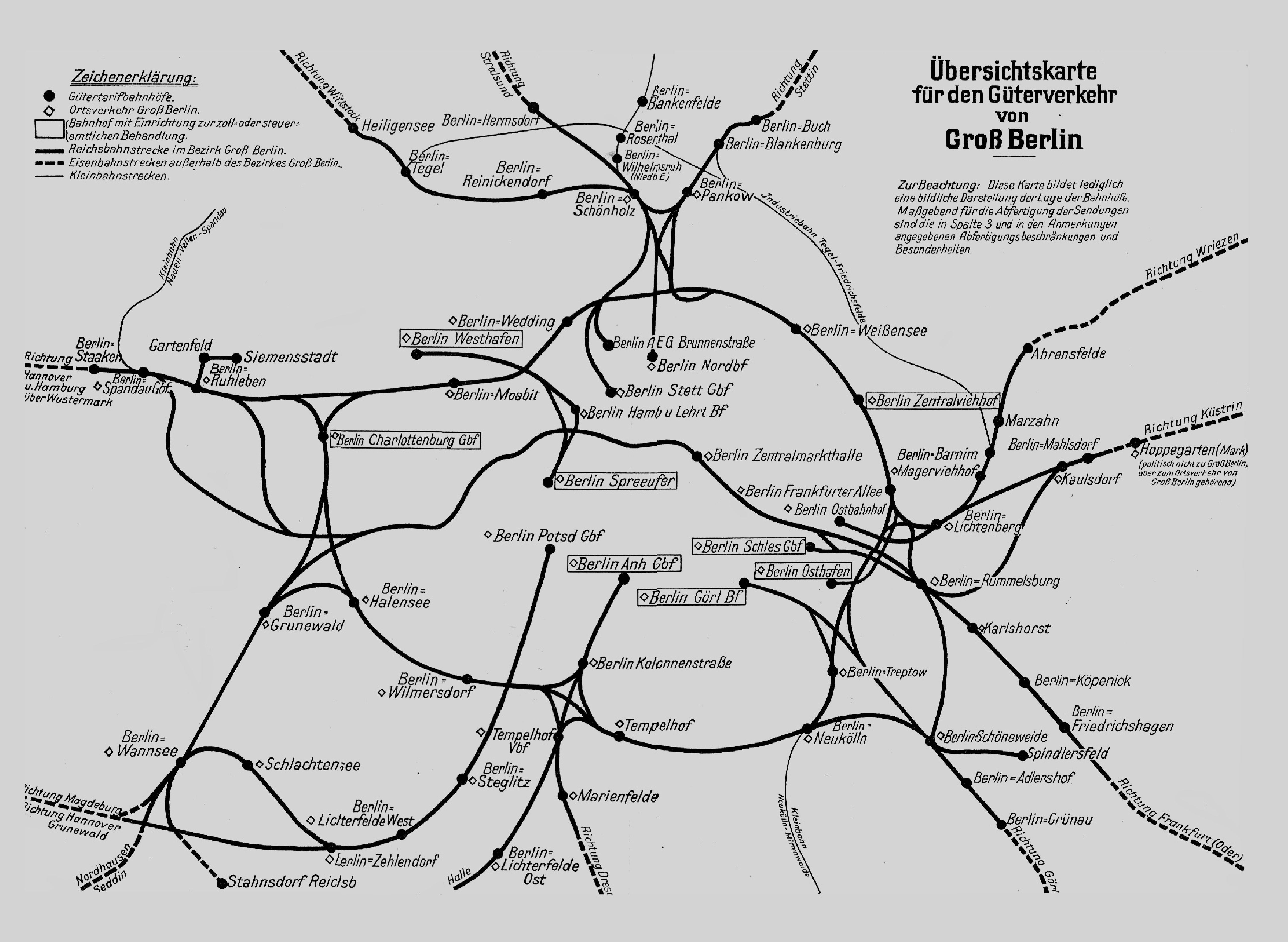Güterverkehr güterbahnhof Moabit Gleis 69